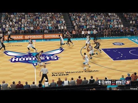 NBA 2K15 San Antonio Spurs Vs Charlotte Hornets 14-01-2015