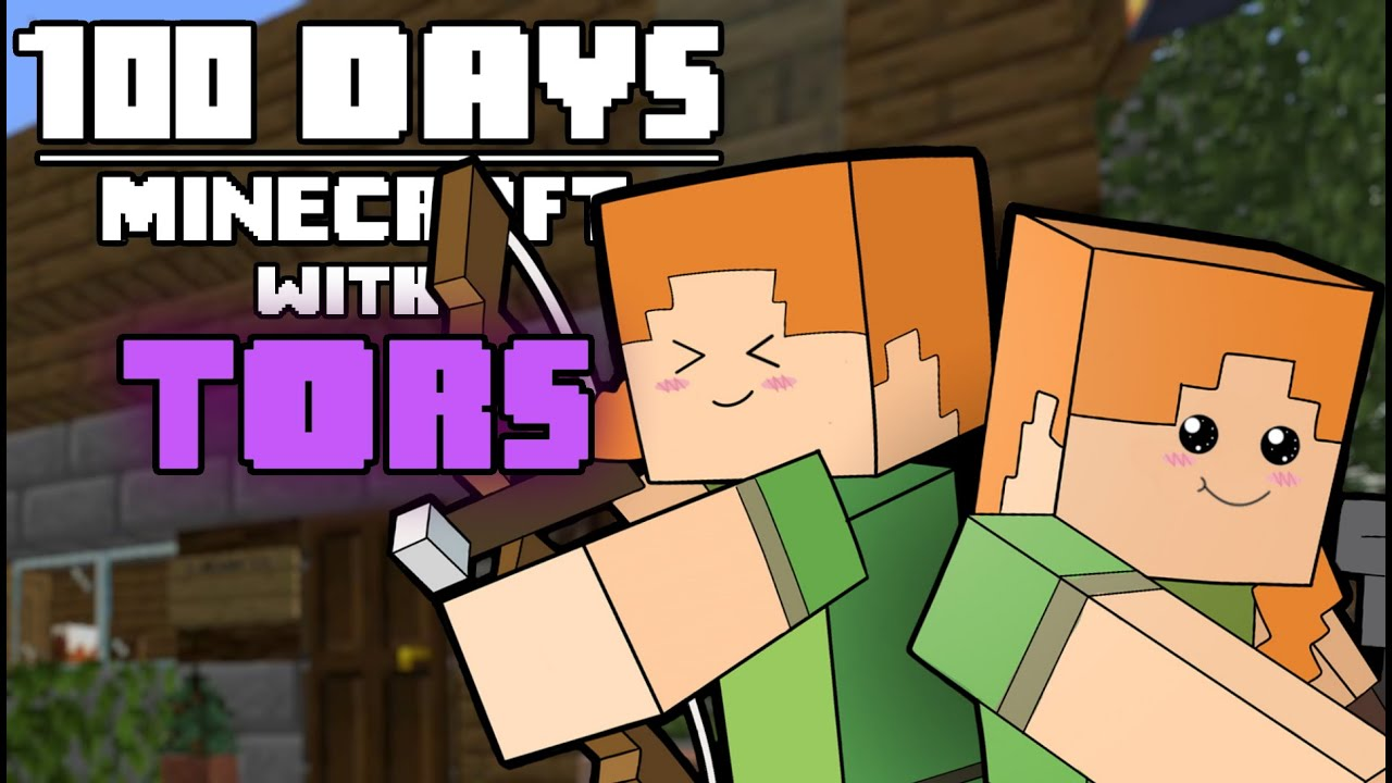 I Survived Minecraft For 100 Days with Tors And This Is What Happened thumbnail