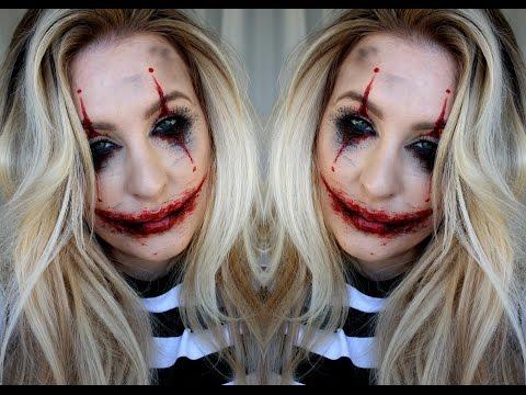 Halloween Sminkning Joker.Halloween Tutorial Joker Inspired Youtube