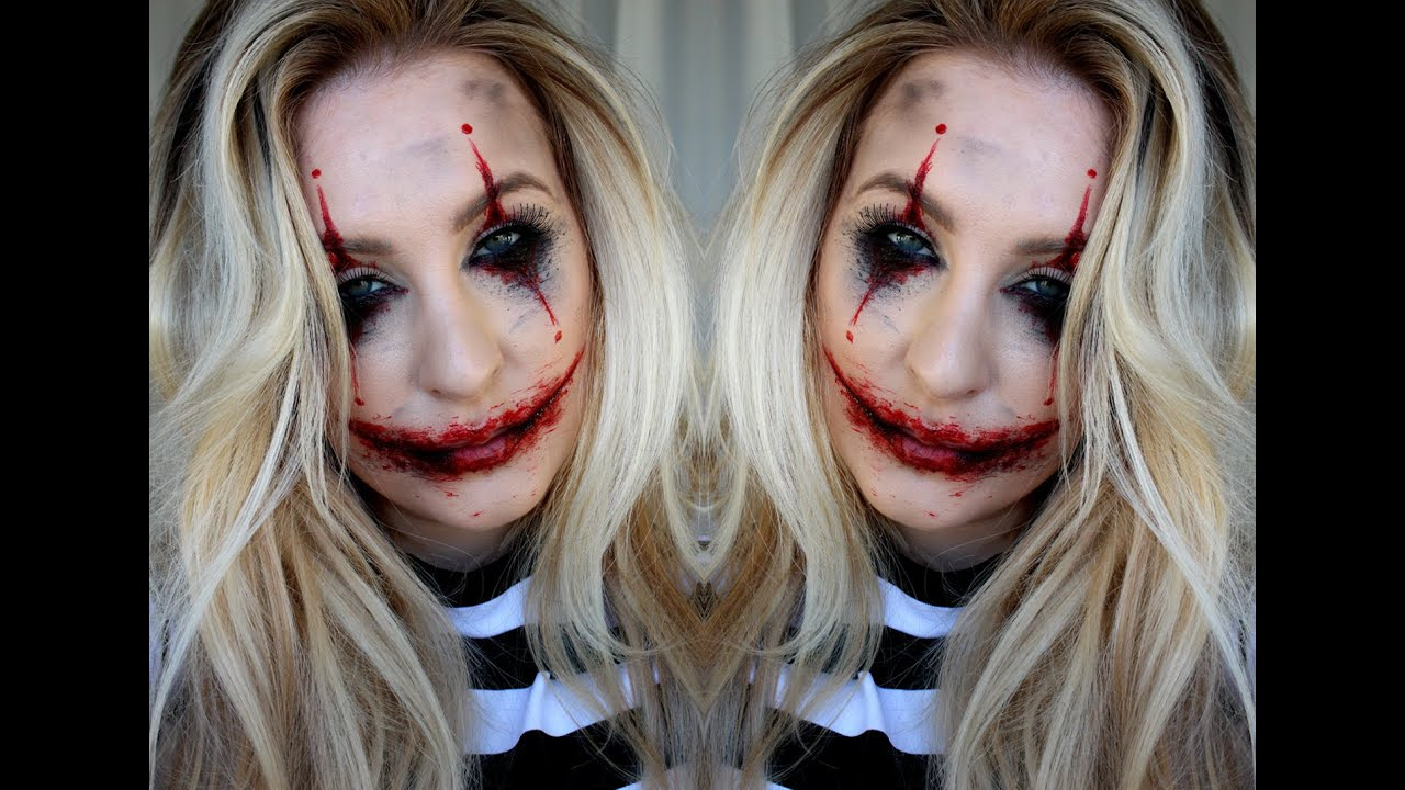 Halloween Sminkning Joker.Halloween Tutorial Joker Inspired