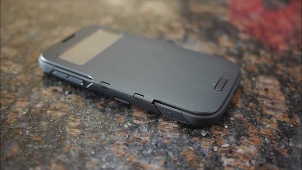 the latest 125bc 3170a Spigen Slim Armor View Case for the Samsung Galaxy S4 hands-on