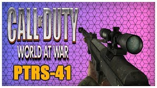 Call of Duty: World at War PTRS-41 Sniping Gameplay! COD WaW PTRS Sniper Multiplayer