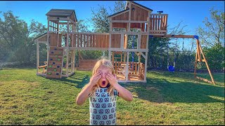 Surprising Everleigh With Ultimate Backyard Makeover!!!