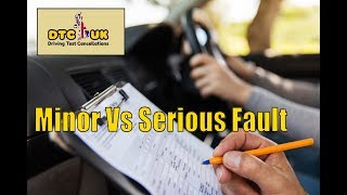 Difference Between Minor and Serious Faults in Driving Test | DTC UK