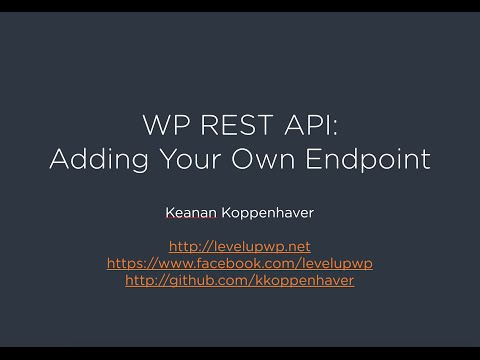 WP REST API - Adding Your Own Endpoint
