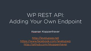 WP REST API - Adding Your Own Endpoint Mp3