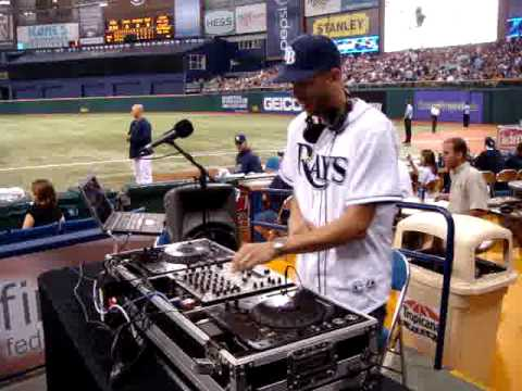 Fresh playing LMFAO @ the Tampa Bay Rays Game