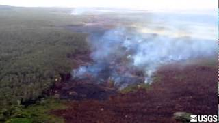 Lava flow on Monday, Sept. 29, 2014