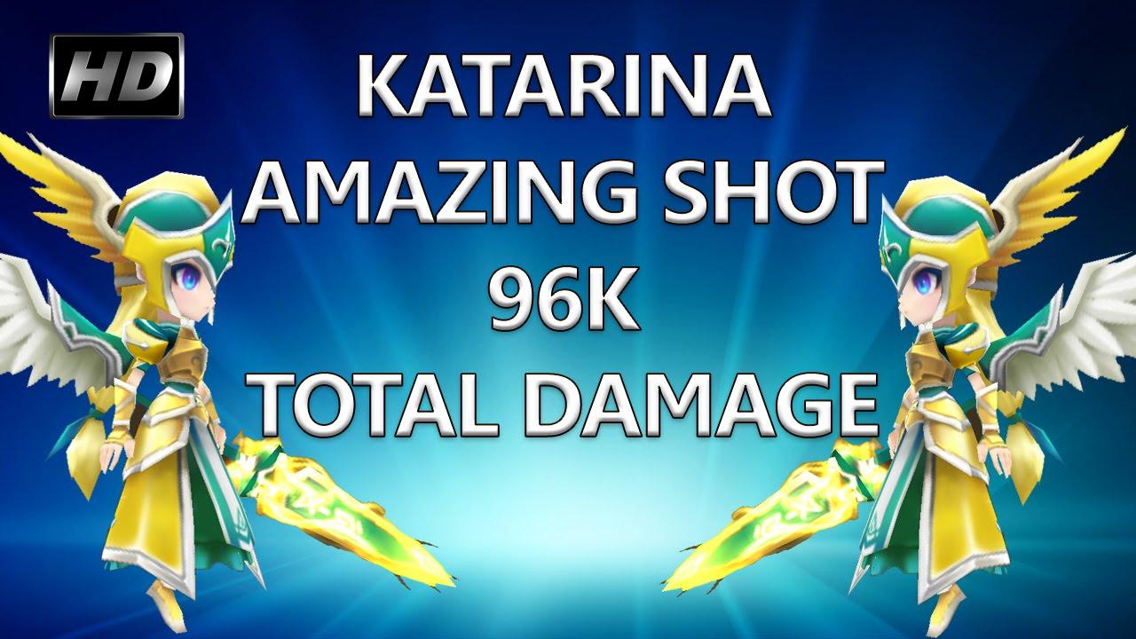 Hd Summoners War Wind Valkyrja Katarina Total Damage 96k 32k