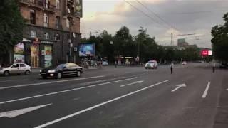 Кортеж Президента Таджикистана Эмомали Рахмон в Ереване