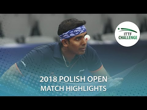 2018 Polish Open Highlights I Achanta Sharath Kamal vs Artur Grela (R64)