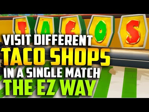 """""""Visit different taco shops in a single match"""" All TACO SHOP LOCATIONS IN FORTNITE week 9 challenge"""