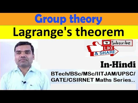 Group theory - Lagrange's theorem in hindi