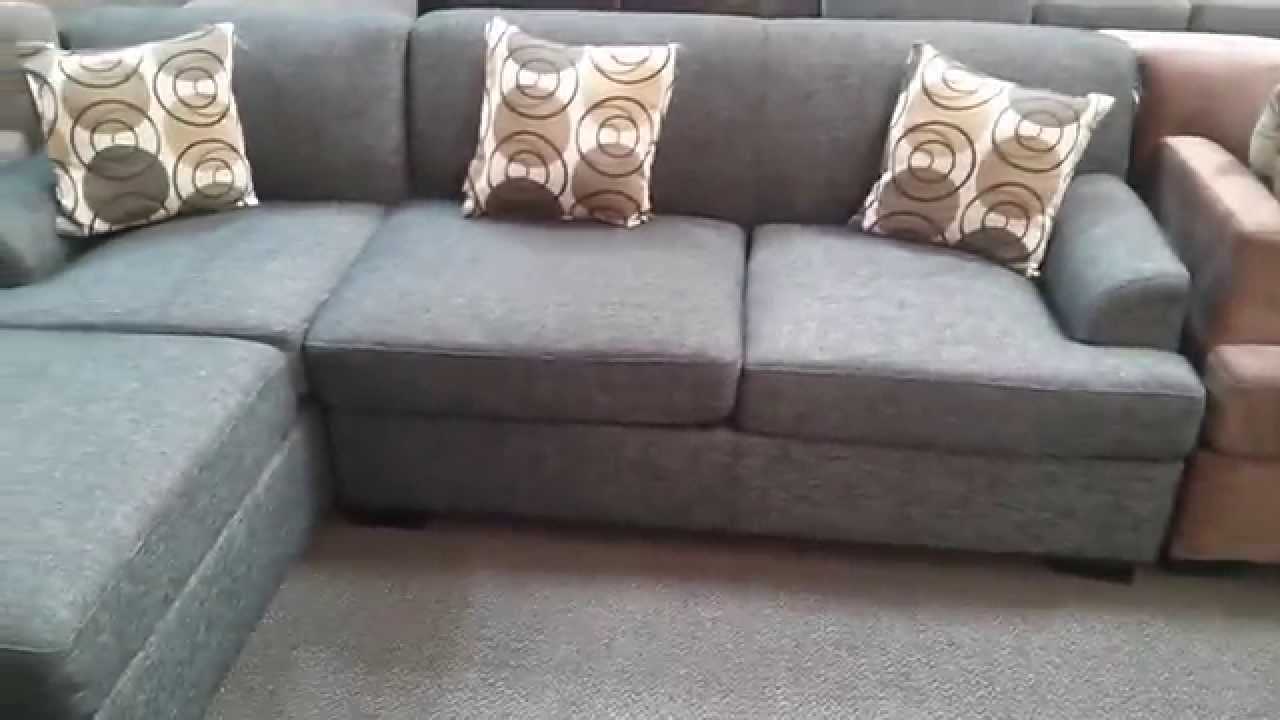 Montreal Sectional Sofa In Slate How To Clean Dirty Cloth Verona Ash Black Finish Close Up Youtube
