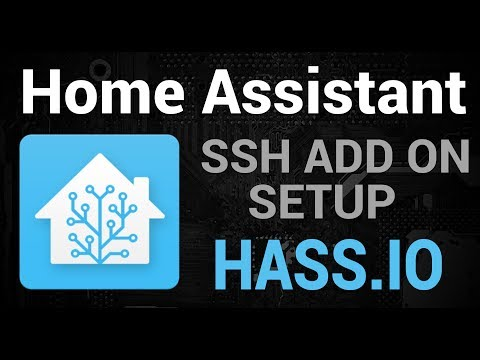Setting Up the SSH Add On - HassIO - YouTube