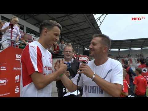 Testspiel: Hallescher FC - 1. FC Union Berlin Interviews nach dem Spiel