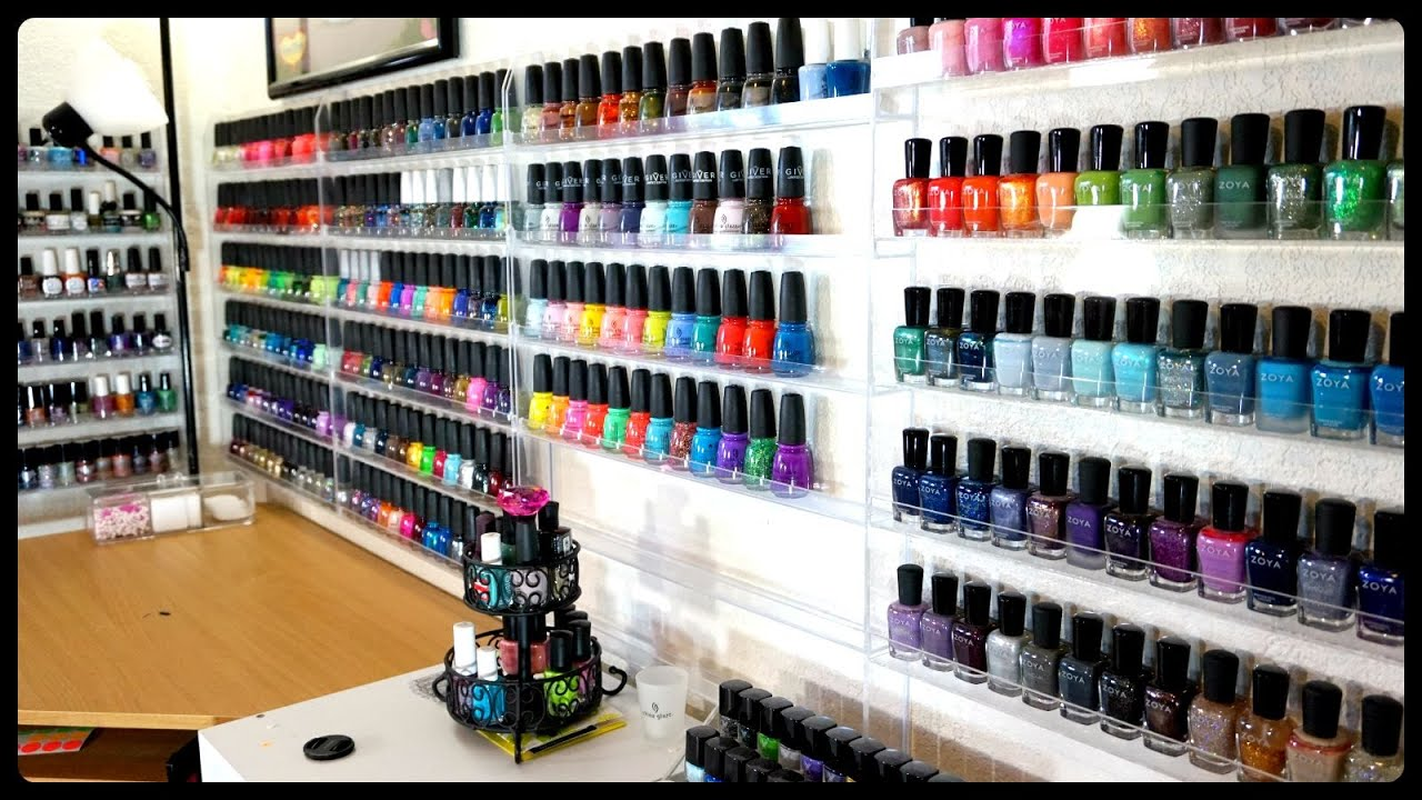 EPIC Nail Polish Collection & Storage!!! - YouTube