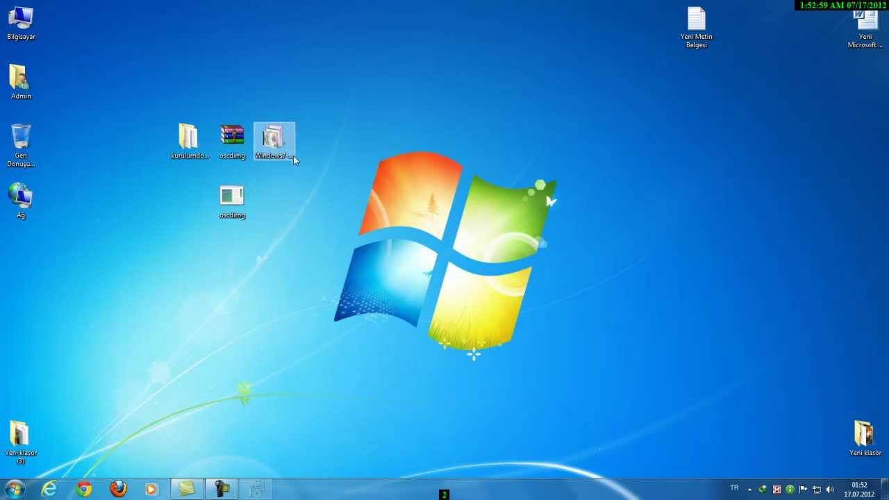 windows 7 cd usb aktarma