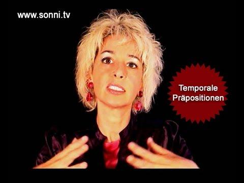 """Deutsche Grammatik: """"Temporale Präpositionen """" (mit Sonja Hubmann)"""