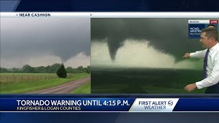 Two tornadoes on the ground in logan countysubscribe to koco now for more: http://bit.ly/1lgfjilget more oklahoma city news: http://www.koco.comli...