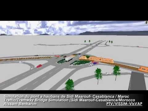 tramway bridge simulation pont haubans de sidi maarouf. Black Bedroom Furniture Sets. Home Design Ideas