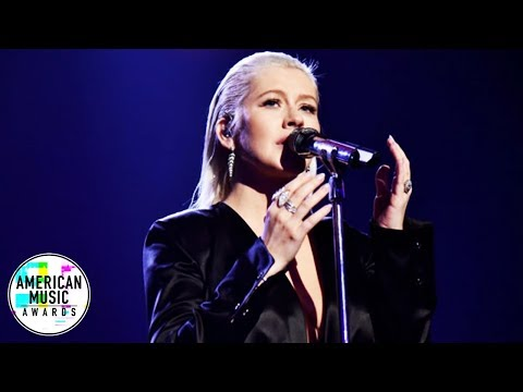 Christina Aguilera - Whitney Houston Tribute (At AMA's 2017) HD