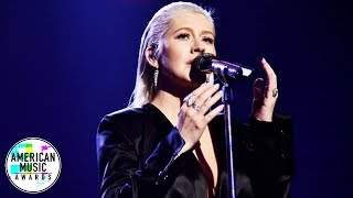 Christina Aguilera - Whitney Houston Tribute (At AMA's 2017) HD thumbnail