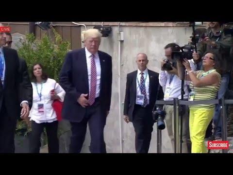 LIKE A BOSS: President Donald Trump Arrives to G7 Summit 2017 Taormina Sicily, Italy Taormina Summit
