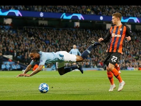 Raheem Sterling penalty: Footage PROVES Man City star tripped HIMSELF up against Shakhtar Accident