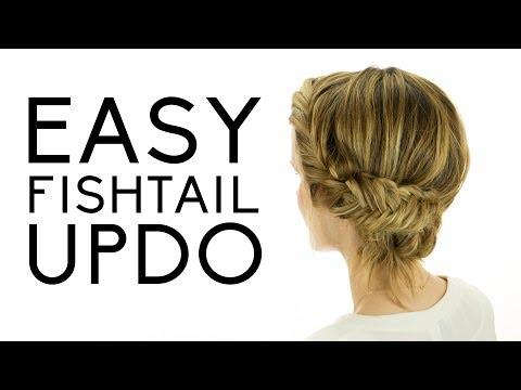 Easy Fishtail Updo