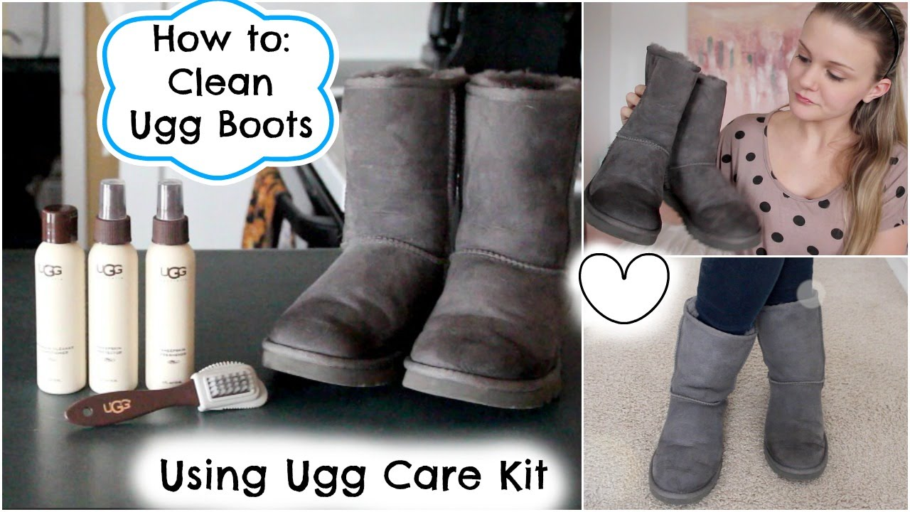 How to Clean Ugg Boots Using Ugg Care Kit   YouTube