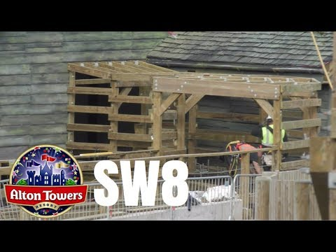Alton Towers SW8 Construction Update - 10th October 2017