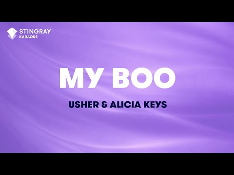 My Boo in the Style of Usher & Alicia Keys karaoke  with lyrics no lead vocal