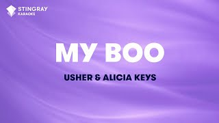 "My Boo in the Style of ""Usher & Alicia Keys"" karaoke video with lyrics (no lead vocal)"