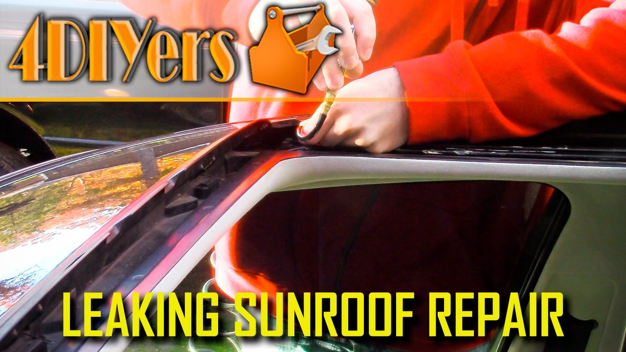 Diy How To Unclog A Sunroof Drain Youtube