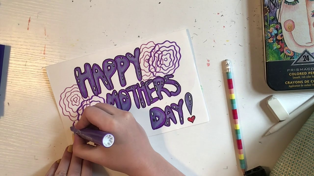 DIY Mothers Day Card - YouTube
