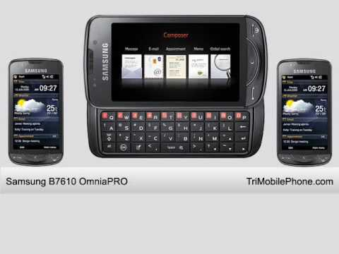 Samsung B7610 OmniaPRO Mobile Phone Specification, Features and Slide show