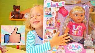 Новая Кукла Сестричка Беби Борн Распаковка и Обзор игрушек для детей Sister Baby Born Старшая сестра