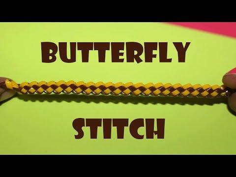 Butterfly Stitch - Lanyard / Scooby Butterfly Stitch - How To Make Butterfly Stitch