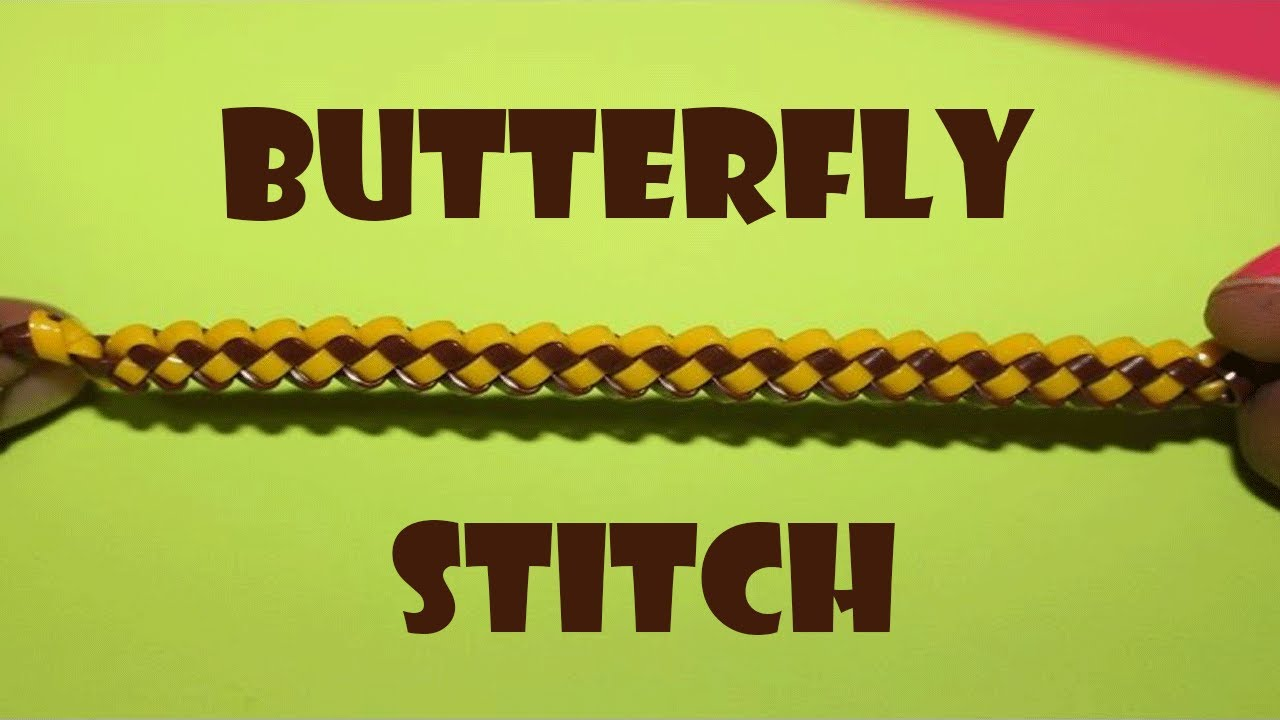 Butterfly Stitch Lanyard Scooby Butterfly Stitch How To Make