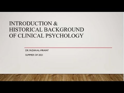 Clinical psychology 1 - Introduction and history of clinical psychology (group B)