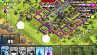 Clash of Clans gameplay 110 minions attacked