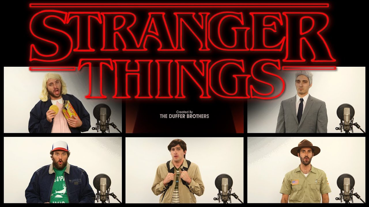 Stranger Things Theme Song Acapella Youtube Strange Nostalgia For The Future How To Tie A