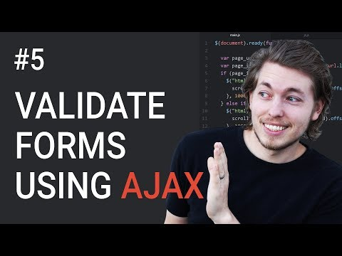 5: How to validate a form using AJAX - Learn AJAX programming