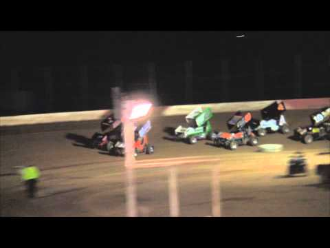 Trail-Way Speedway 358 Sprint Car Highlights 4-18-14
