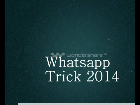 Whatsapp Trick | Use Whatsapp Without Your Mobile Phone Number  | 2014
