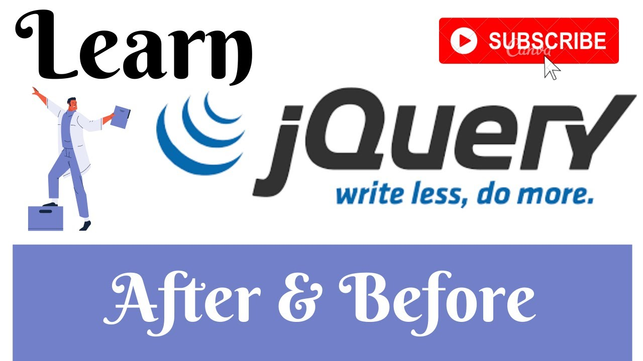 jQuery Lecture - 18 After & Before Method Tutorial in Hindi / Urdu