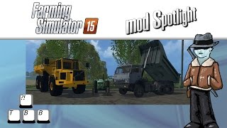 Farming Simulator 15 Mod Spotlight - Dump Trucks!