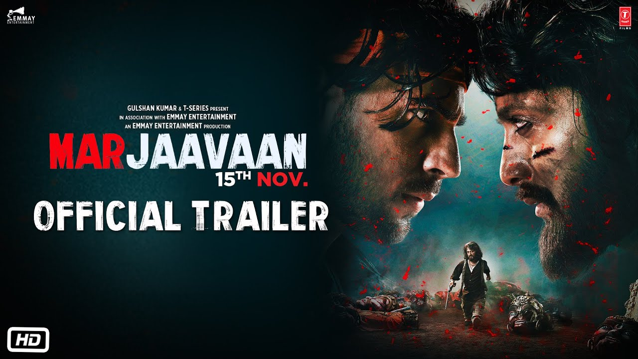 Official Trailer Marjaavaan Riteish Deshmukh Sidharth Malhotra Tara Sutaria Milap Zaveri Youtube