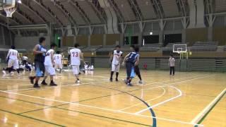 平塚総合ハ スケットホ ール選手権大会 falcons vs 湘南シーホークス 試合2014 2q 1